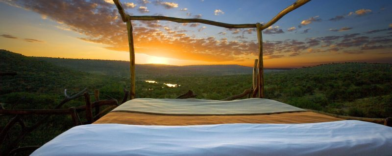 You'll see the most spectacular sunrise from your Loisaba star bed.