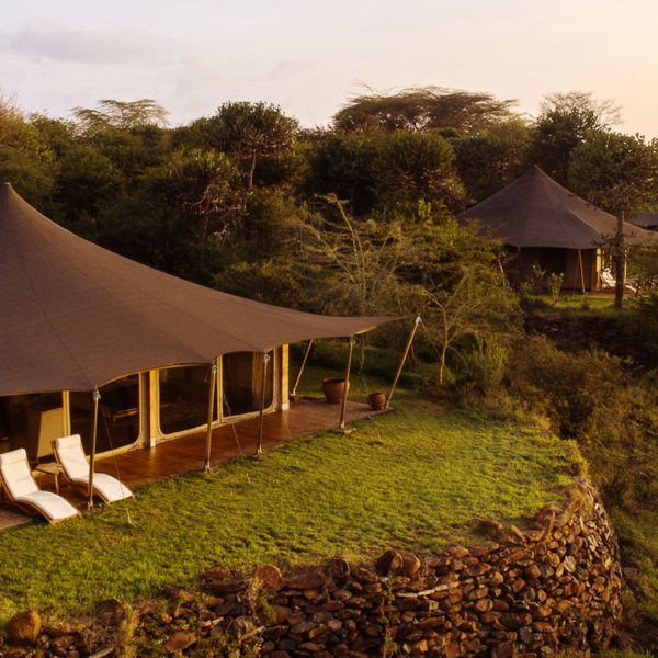 Loisaba Tented Camp has nine tented suites, including three doubles.
