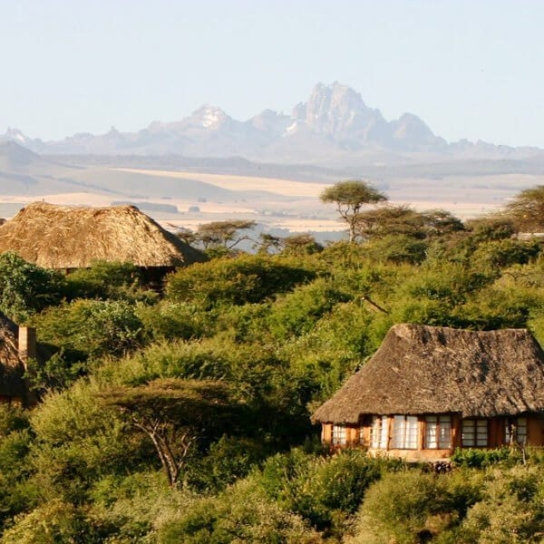 Lewa Wilderness has dramatic Mount Kenya views.