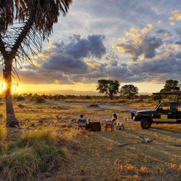 Bush sundowners are a must when on a Meru safari.