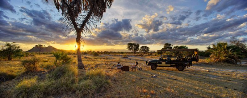 Bush sundowners are a must when on a Meru safari.