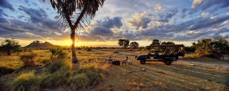 Bush sundowners are a must when staying at Elsa's Kopje in Meru National Park.