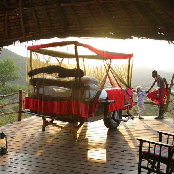 The Samburu staff will keep an eye on your family when you stay at Loisaba Star Beds, so you'll be perfectly safe. © Elewana Collection