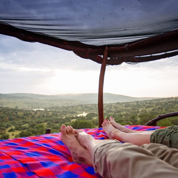 With a view like this, you might want to stay in bed all day at Loisaba Star Beds. © Elewana Collection