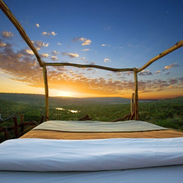 You'll see the most spectacular sunrise from your Loisaba star bed. © Elewana Collection
