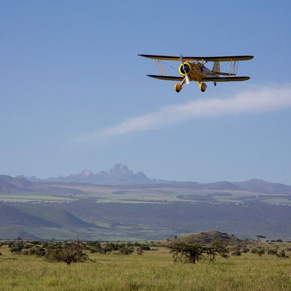 This very biplane was used in the filming of the movie Out of Africa. © Lewa Wilderness