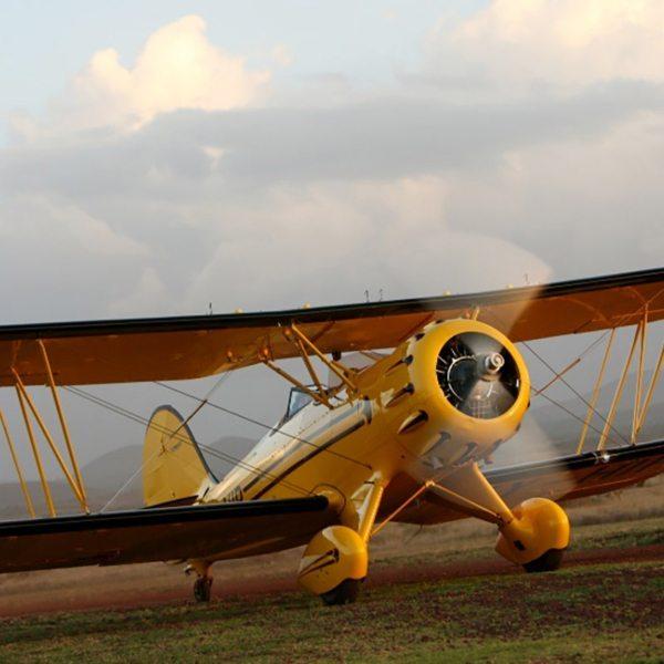 This biplane, a Gipsy Moth, has a plywood frame. © Sirikoi