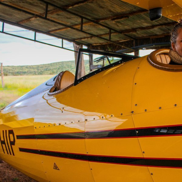 Flying in this biplane is an opportunity to experience a unique aspect of Kenyan safari history. © Sirikoi