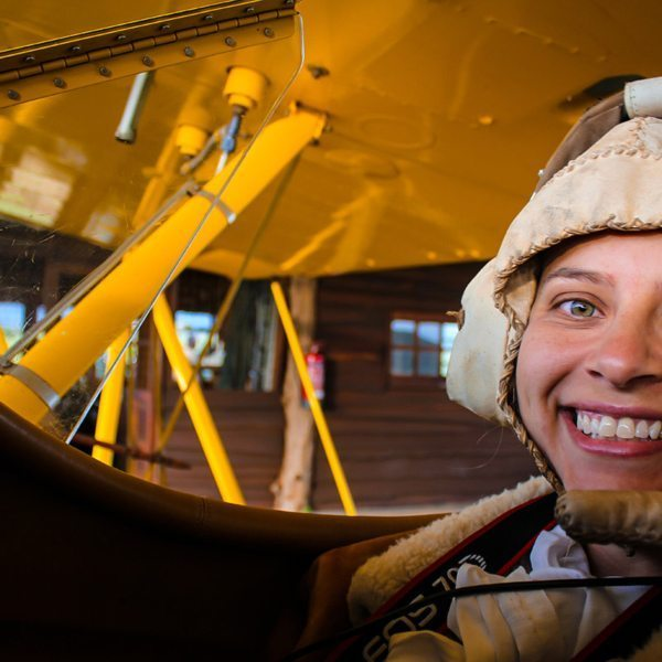 You'll even get to wear an aviator hat when you go on a biplane ride. © Sirikoi