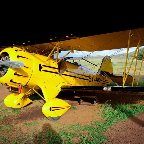 Jochen Zeitz, owner of Segera Retreat, bought and restored this old biplane. © Sirikoi
