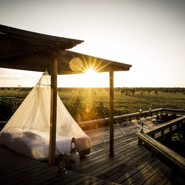 Sleep under the stars in Segera Retreat's swing beds. © Wilderness Safaris