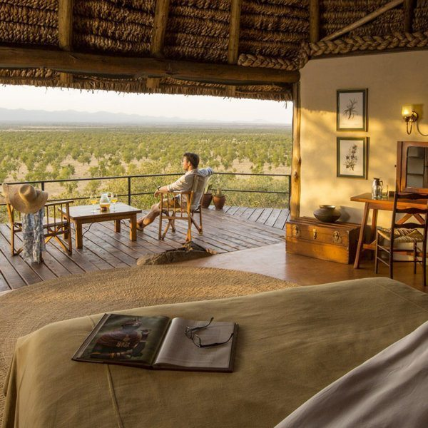 If you keep an eye on the wild Meru landscape, you might spot some game right from your private cottage deck at Elsa's Kopje Meru. © Elewana Collection