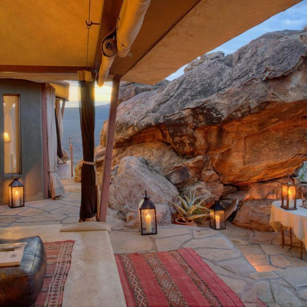 This romantic villa at Saruni Samburu is usually reserved for honeymooners. © Saruni
