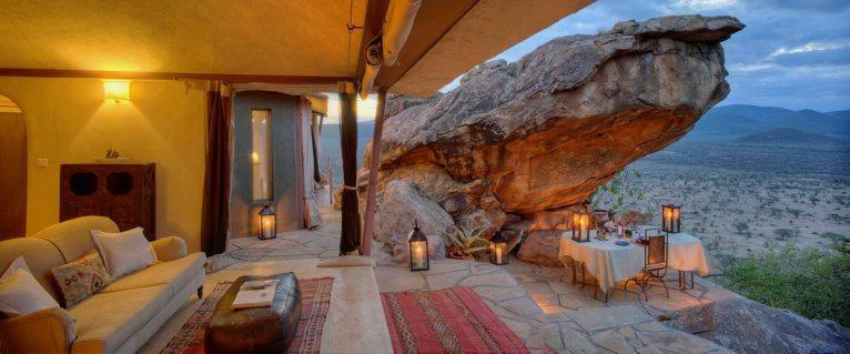 This romantic villa at Saruni Samburu is usually reserved for honeymooners. © Saruni