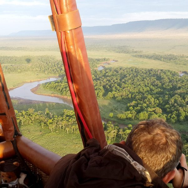 Tip: attach your GoPro to the hot-air balloon for great footage. © Leah van Deventer