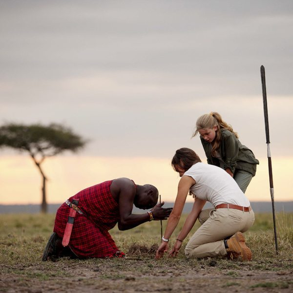 Like many other tribes across Africa, the Maasai make fire by rubbing sticks together. © Elewana Collection