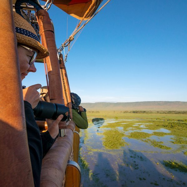You'll get some lovely photos from a hot-air balloon in the Masai Mara. © Andrew Schoeman