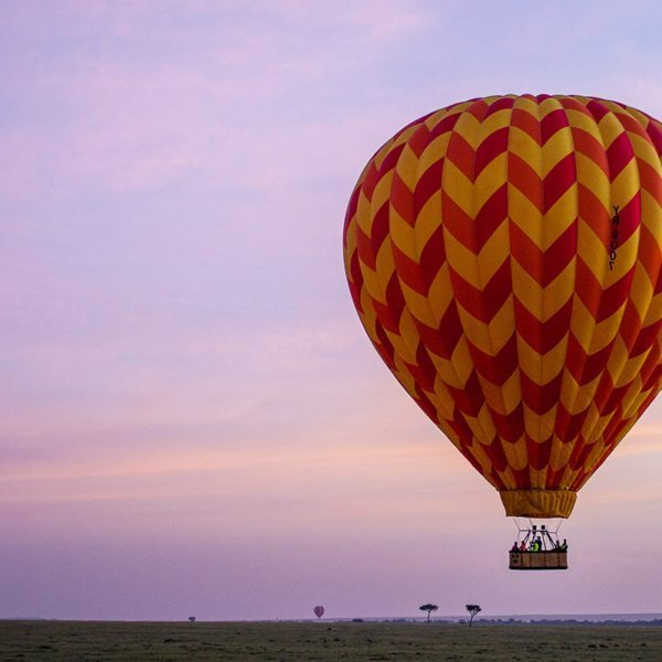 Sometimes the hot-air balloon cruises near the ground, so you can see the terrain closely. © Andrew Schoeman