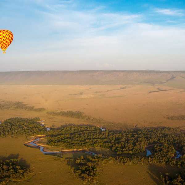 A hot-air balloon safari over the Masai Mara is one of those dream-like experiences you'll tell the grandchildren about one day. © Angama Mara
