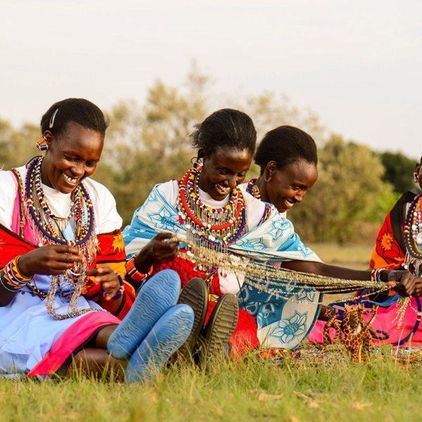 Beadwork is an important skill for Maasai women. © Angama Mara