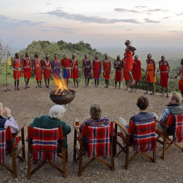 The Maasai 'jumping dance' is called the adumu or aigus. © Angama Mara
