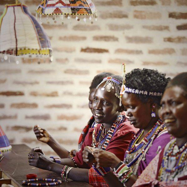 At some lodges, Maasai women teach guests basic beadwork. © Angama Mara