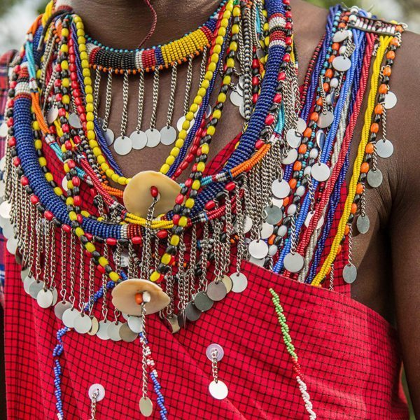 The beads worn by the Maasai express their identity and position within their society. © Angama Mara