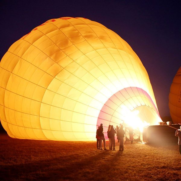 This hot-air balloon is almost ready for boarding. © Carl Fourie