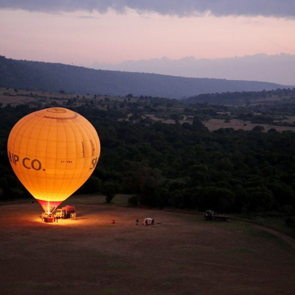 Once the basket is upright, you can climb aboard the hot-air balloon and get ready for lift off. © Carl Fourie