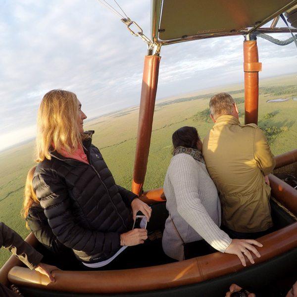 Drifting over the Masai Mara in a hot air balloon © Gary Lotter