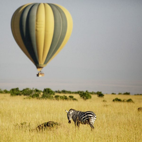 A hot-air balloon safari in the Masai Mara offers the ultimate 'romantic Africa' moment. © The Safari Collection