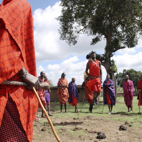 The Maasai are well known for their traditional 'jumping dance', which you'll see during cultural visits. © &Beyond