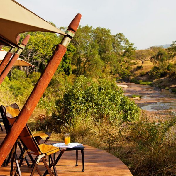 Luxury Kenya Safari | The guest tents at Sand River Camp all have amazing views of the river.
