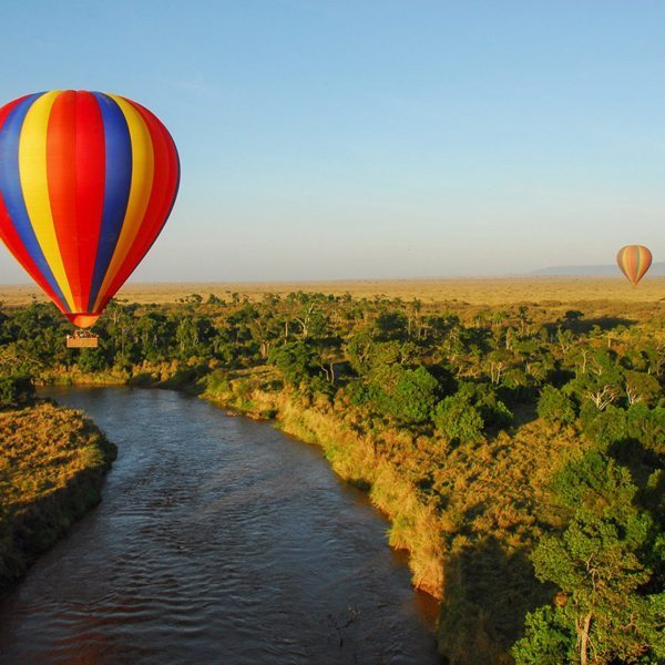 When staying in the Masai Mara you should definitely go hot-air ballooning. © Angama Mara