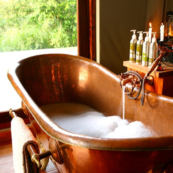 This Bathtub In One Of Salas Camps Honeymoon Tents Is Set For Romance
