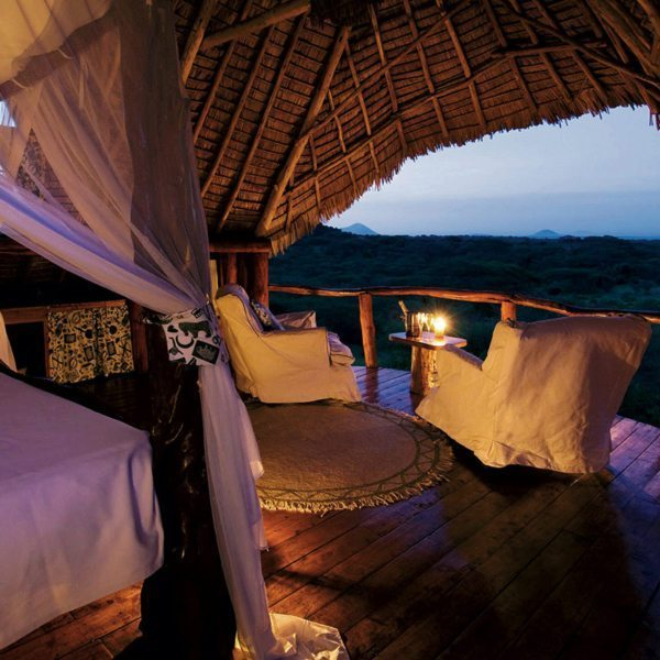 Each suite at ol Donyo Lodge has commanding views of Mount Kilimanjaro, less than 65km away. © Great Plains Conservation