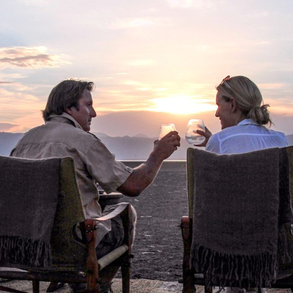 Toast to your slow safari when staying at Chem Chem Lodge.
