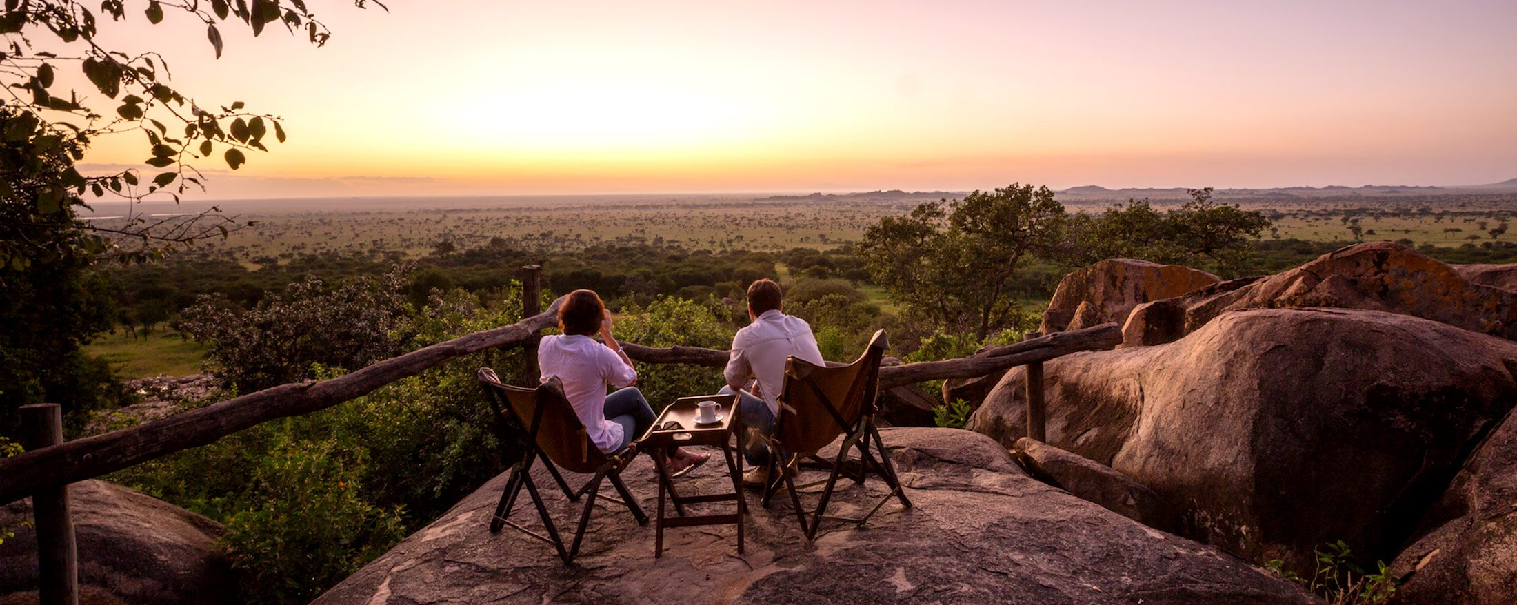Serengeti Pioneer Camp has lovely views of the southern Serengeti National Park.