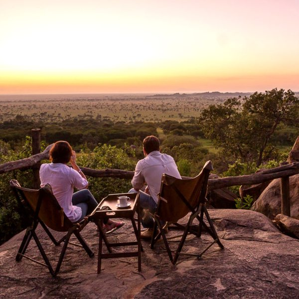 Serengeti Pioneer Camp has lovely views of the southern Serengeti National Park.