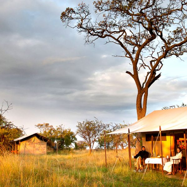 Serengeti Mobile Camp has just 11 guest tents, set well apart for privacy.