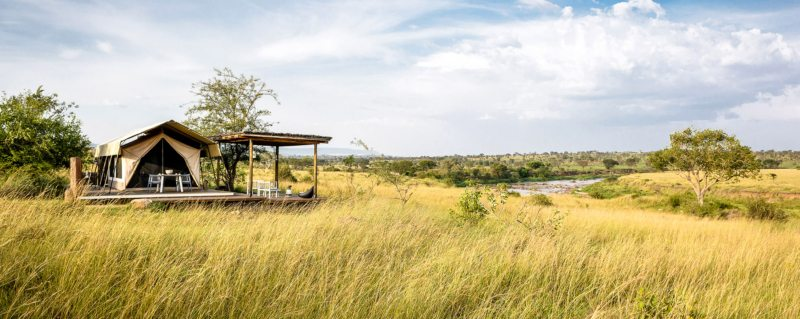 Mara River Tented Camp is an intimate camp with only six tented rooms.