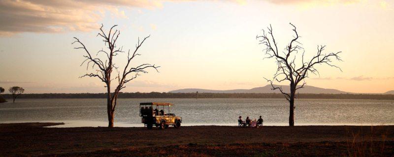 Have sundowners on the shores of Lake Nzerakera when staying at Siwandu.