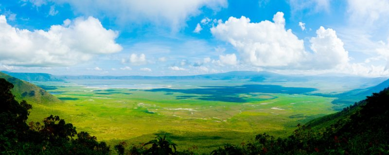 Ngorongoro Crater Safari | Ngorongoro Crater is 20km wide and 600m deep.
