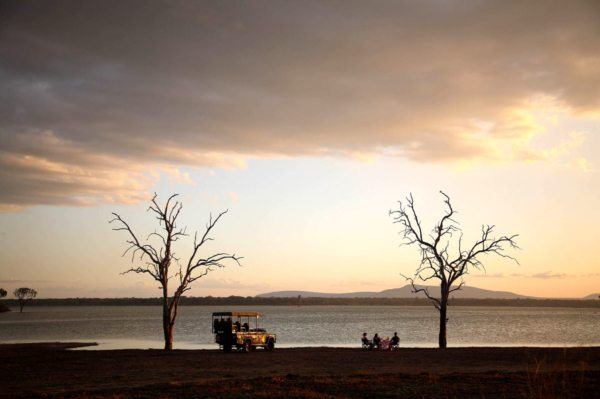 Have sundowners on the shores of Lake Nzerakera when exploring the Selous. © Selous Safari Company