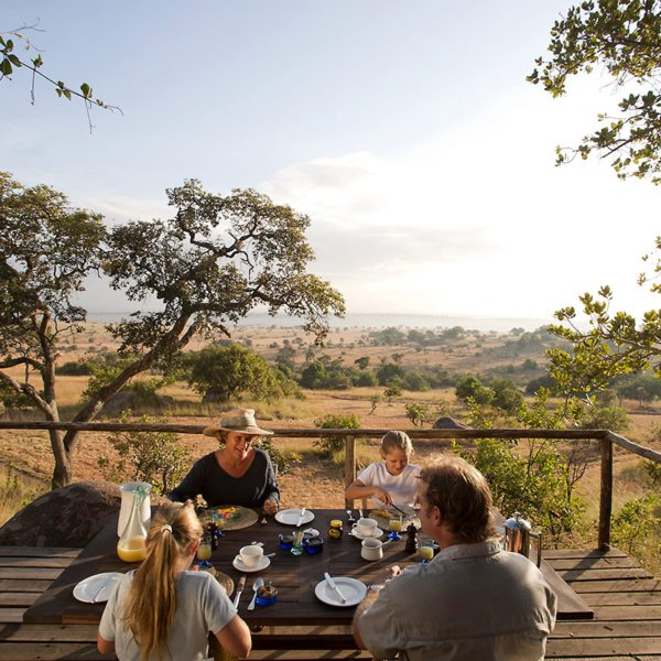 You can have lunch on your private porch at Lamai Serengeti. © Nomad Tanzania