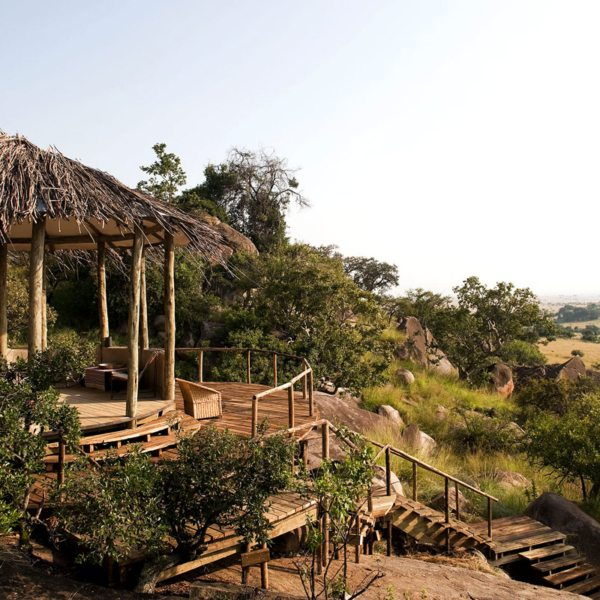 Each of the two camps at Lamai Serengeti have their own guest areas. © Nomad Tanzania
