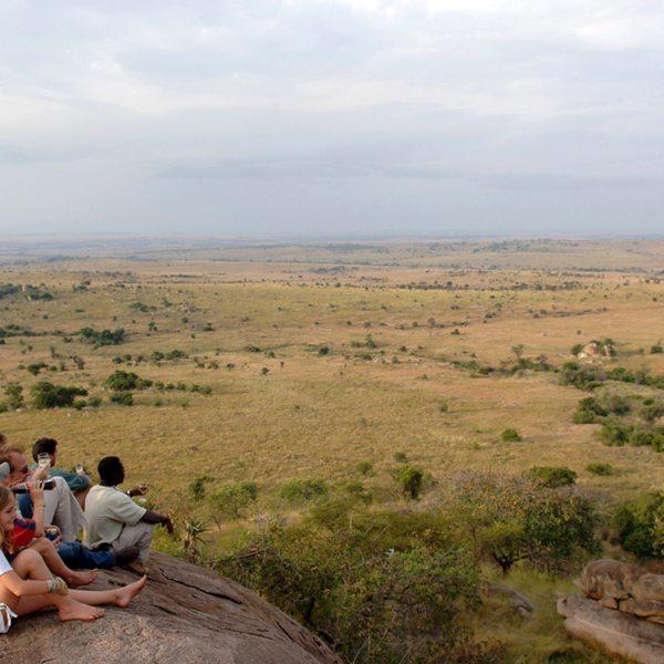 Climb onto one of the rocks at Lamai Serengeti and enjoy the views. © Nomad Tanzania