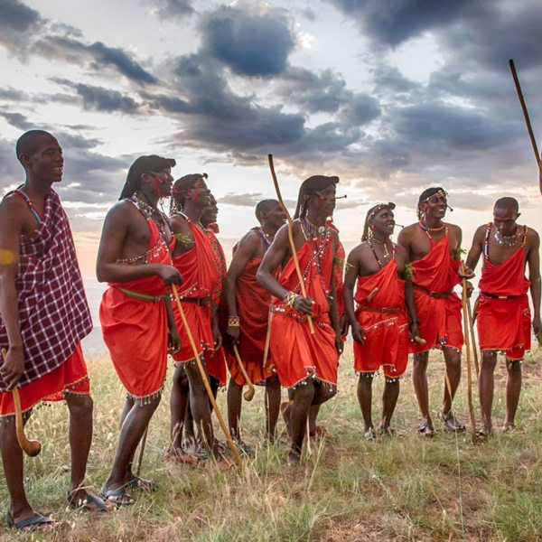 During cultural visits at Klein's Camp you might see the traditional Maasai jumping dance. © &Beyond