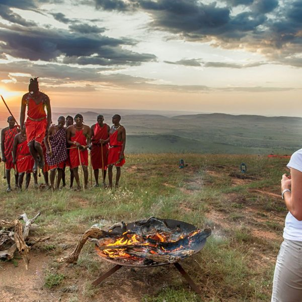 You might be able to see the traditional Maasai jumping dance when staying at Serengeti Under Canvas. © &Beyond
