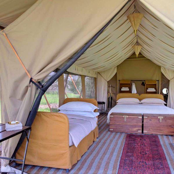 The Bedouin-style guest tents at Serengeti Under Canvas are enormous. © &Beyond